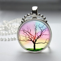 Round Glass Bezel Pendant Tree Pendant Tree by IncrediblyHip