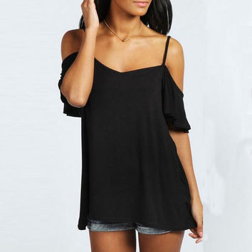 Sexy Off Shoulder T-Shirt Summer Style Women Slash Neck Short Sleeve Casual Solid Stretch Tops Tee Blusas Plus Size S-XXL