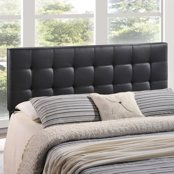 Lily Full Vinyl Headboard in Black