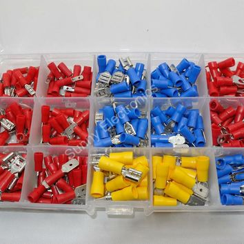 280pcs/lot Insulated Terminals Electrical Crimp Connector Spade Ring Fork Assortment Kit Free Shipping