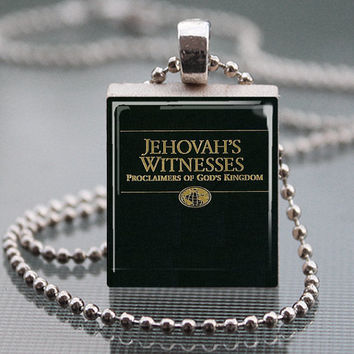 Jehovah's Witnesses Proclaimers of God's Kingdom Literature Scrabble Tile Pendant Necklace