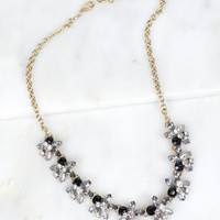Multi Stone Necklace Black