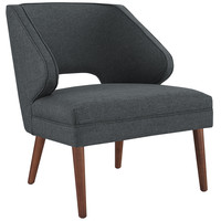 Dock Fabric Armchair Gray