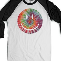 trippy smile-Unisex White/Black T-Shirt