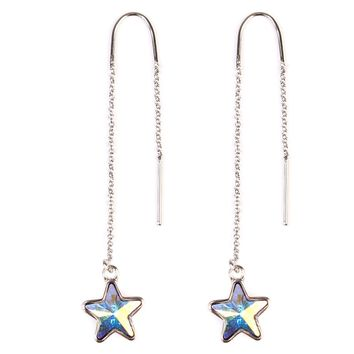 Swarovski Star  Stones Threader Earrings