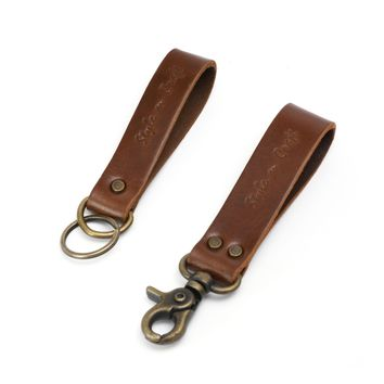 98203 - Snap Loop & Key Ring Combination in Heavy Top Grain Leather