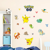 Pokemon Wall Stickers for Kids Rooms Home Decorations Pikachu Wall Decal Amination Poster Wall Art Wallpaper Kids SM6