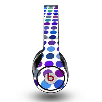 The Blue and Purple Strayed Polkadots Skin for the Original Beats by Dre Studio Headphones