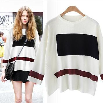 3-color Long Sleeve Sweater [52171833370]