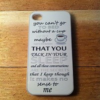 iPhone 5 or 4/4s Case - One Direction Little Things Song Lyrics