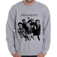 Paramore-band riot indie Punk Music Rock Grey men Heavy Crewneck Sweatshirt
