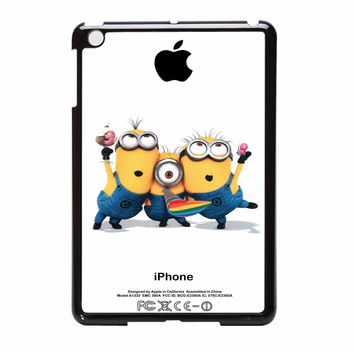 Minions Despicable Me With Apple Logo White iPad Mini Case