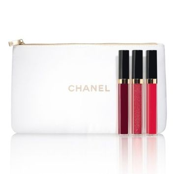 CHANEL BRIGHT ON ROUGE COCO Moisturizing Glossimer Trio (Limited Edition) | Nordstrom