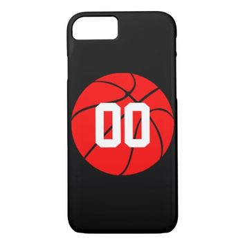 Red Basketball Custom Sports iPhone Case