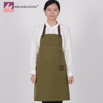 2018 New Design 100% Cotton Apron For The Kitchen Denim Style Dress Fashion Adjustable Work Apron Cozinha Avental Kitchen Goods