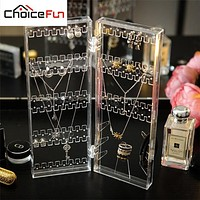 CHOICEFUN Lots Hook Necklace Jewelry Bracelet Holder Clear Velvet Jewelry Storage Plate Accessories Door Display Rack SF-84012B