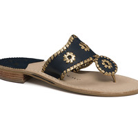 Nantucket Gold Sandal in Midnight and Gold by Jack Rogers