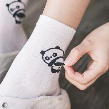new Women Girl Cute Animal Cotton Crew Socks 3D Tail Kawaii Dolphins pandas bear rabbits Harajuku Funny Novelty Art Ankle