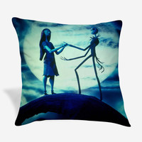 Nightmare Before Christmas Jack skellington and Sally Pillow Case