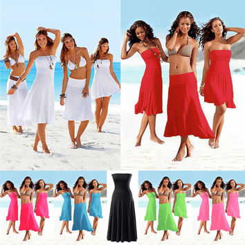 SWIMMART Designer Matches Bikini Multi - wear Cover ups 2017 Most Popular n Hot Convertible Beach dress S.M.L.XL
