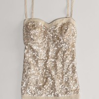AEO Women's Sequined Corset