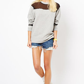 Grey Mesh Sweatshirt