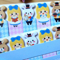 Alice in wonderland sticky note girls stick marker fairy tale sticky paper note rabbit sticky memo diary animal index paper cute stationary
