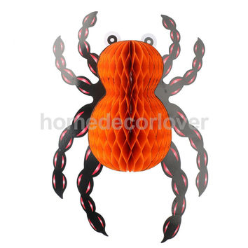 Scary Halloween Red Spider Hanger House Bar Party Outdoor Wall Decor Props
