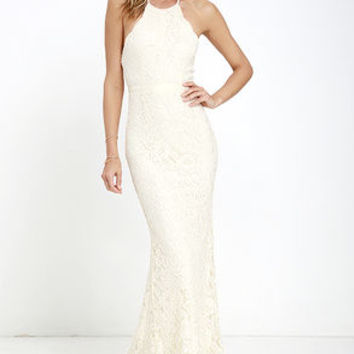 Zenith Cream Lace Maxi Dress