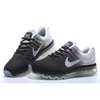 """Nike Air Max 2017"" Men Sport Casual Gradient Color Air Cushion Sneakers Running Shoes"