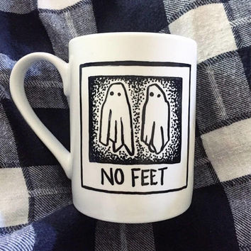 "Beetlejuice ""No Feet"" Coffee/Tea/Cocoa Mug"