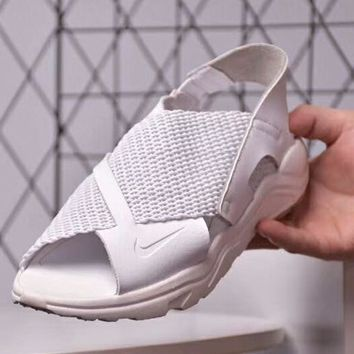 NIKE Wmns Air Huarache Ultra New fashion women weave sports sandals White