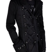 Short Tai D Ring Coat - Gothic, industrial, steam punk coats