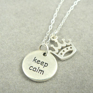 Keep Calm and Carry On sterling silver charm by asilomarworks