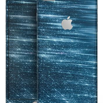 Radiant Blue Scratched Surface - Skin-kit for the iPhone 8 or 8 Plus