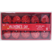 Valentine's Day 10 Count Heart Lights-Red - JoAnn | Jo-Ann