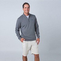 1/4 Zip Pullover in Graphite Grey by Johnnie-O