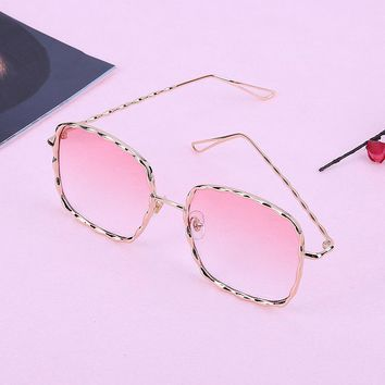 Unisex Fashion Round Frame Anti UV Lens Sunglasses  Fashion Brand Designer Metal Frame Vintage Mirror Sun Retro Glasses UV400