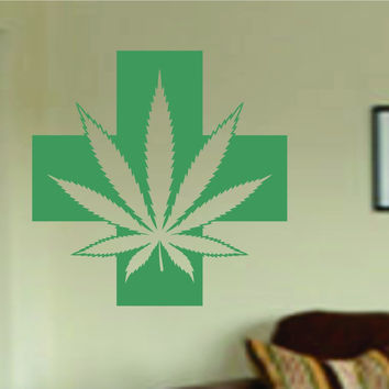 Medical Marijuana Wall Decal Sticker Wall Vinyl Mural Mary Jane Weed