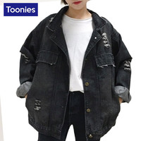Women Basic Black Jeans Jacket