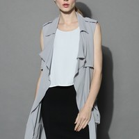 My Chic Waterfall Duster in Grey