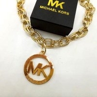 MK Women Fashion Chain Plated Necklace Jewelry