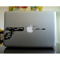 Apple Macbook Vinyl Decal Sticker - Pistol Shot