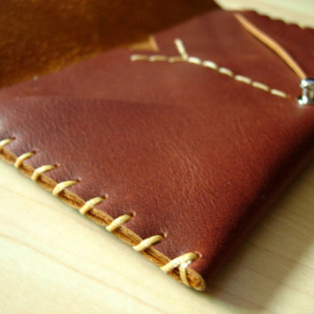 Hand-stitched Leather iPhone Wallet for Women
