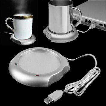 Household USB Insulation Coaster Heater Heat Insulation electric multifunction Coffee Cup Mug Mat Pad Home Useful Accessories