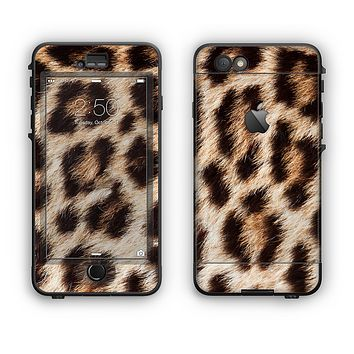 The Leopard Furry Animal Hide Apple iPhone 6 Plus LifeProof Nuud Case Skin Set