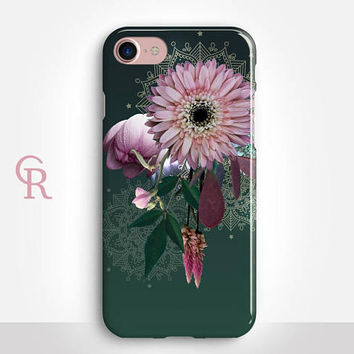 Floral iPhone X Case For iPhone 8 iPhone 8 Plus - iPhone X - iPhone 7 Plus - iPhone 6 - iPhone 6S - iPhone SE - Samsung S8 - iPhone 5