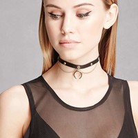 Ettika Chain Leather Choker
