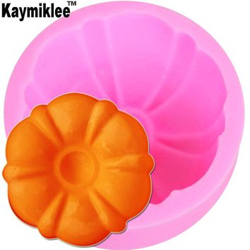 Kaymiklee S088 3D Silicone Soap Mold Pumpkin Flower Mould Candle Molds Crafts DIY Forms For Cheap Soap Base Tool