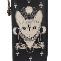 Gothic Bastet Sphynx Cat Occult Goth Wallet